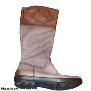 Hispanitas Leather Embossed Cuff Riding Boots